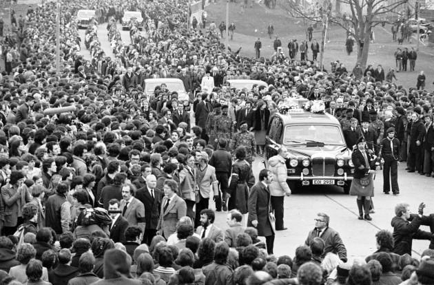 IRA Hunger Strike 1981: Bobby Sands funeral