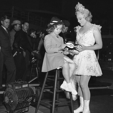 Shirley Temple and Sonja Henie 1937