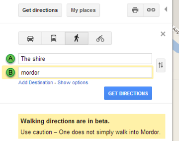 Decided to take a trip and get directions of Google Maps. - Imgur