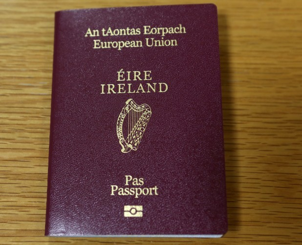 Newly Designed Irish Passport. Picture