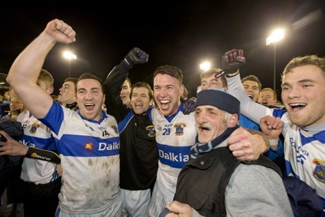 Ciaran Dorney, Eamon Fennell and Shane Byrne celebrate