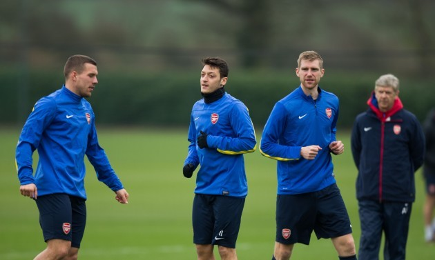 Soccer - UEFA Champions League - Round of 16 - Arsenal v Bayern Munich - Arsenal Training Session - London Colney