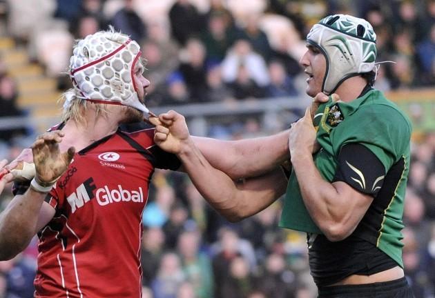 Rugby Union - LV=Cup - Semi Final - Northampton Saints v Saracens - Franklin's Gardens