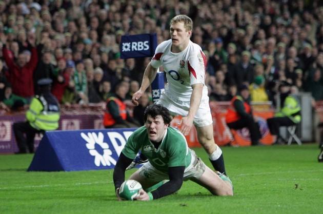Shane Horgan and Josh Lewsey 24/2/2007