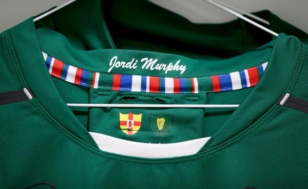 General view of Jordi Murphy's jersey