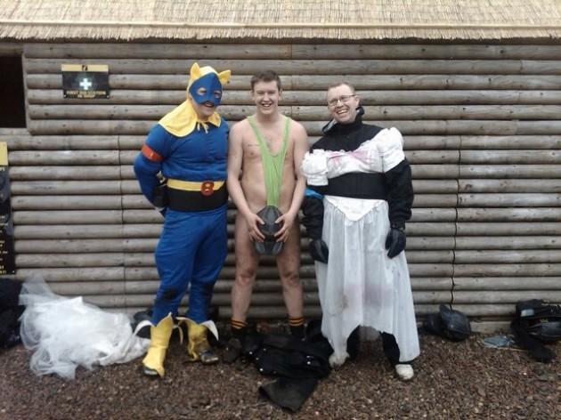 Stag party - superhero, Borat, Borat
