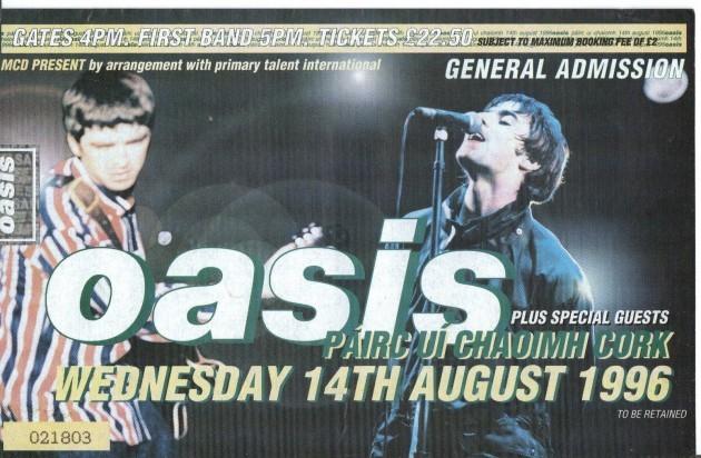 oasis-cork-ticket-august-1996