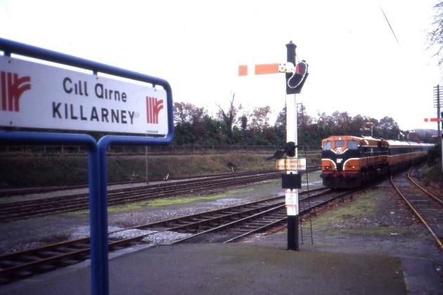 Semaphore signals at Killarney Station. November 1991