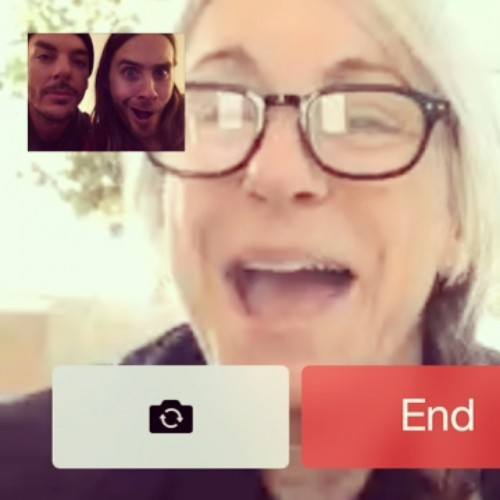My mothers face when @shannonleto and I told her she was coming to the #Oscars with us! :)