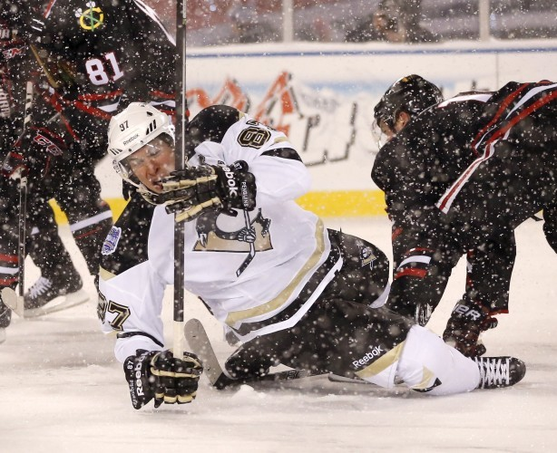 Penguins Blackhawks Hockey