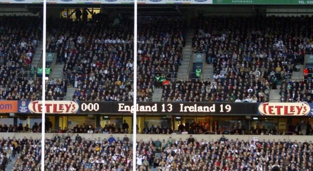 The scoreboard showing the final score 6/3/2004