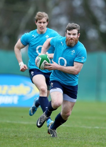 Gordon D'Arcy supported by Andrew Trimble