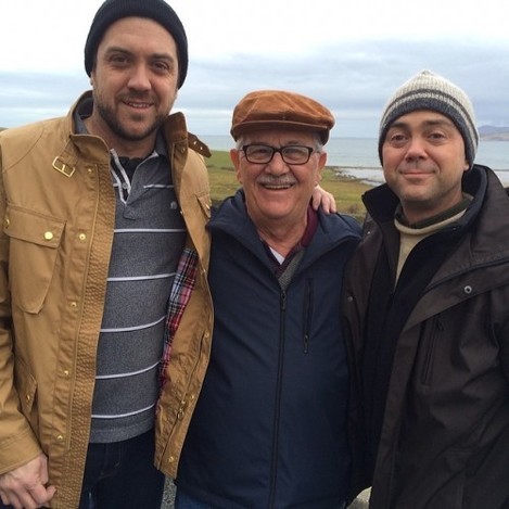 Dad turns 70 today. In Ireland. With his sons. #UnforgettableDay