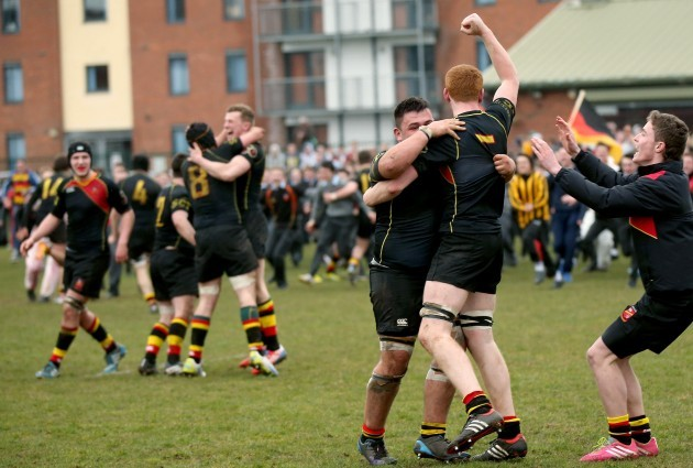 Patrick Staff and Tommy Walsh celebrate at the final whistle