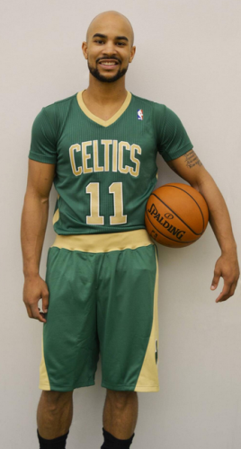 the latest 45208 b0cdd Snapshot - Boston Celtics unveil sleeved jerseys for St ...