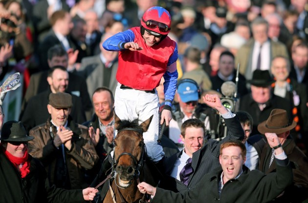 Ruby Walsh celebrates winning on Queveg 11/3/2014