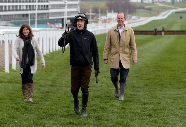 Ruby Walsh walks the course