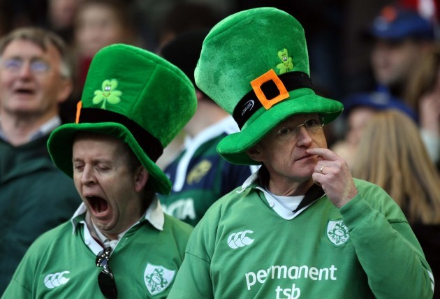 Bored Irish fans