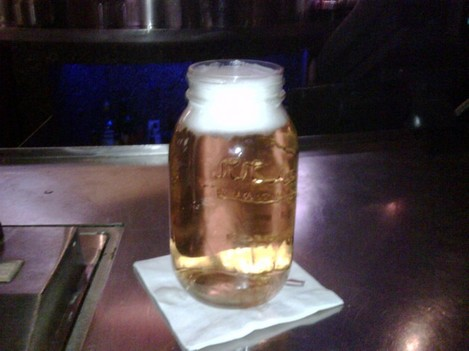 Mason Jar of Busch