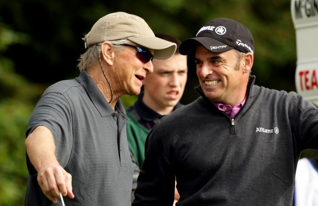 Michael Douglas and Paul McGinley