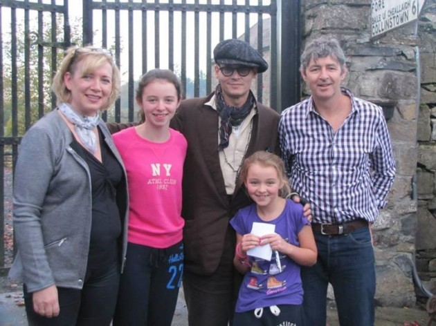 Happy FAmily pic with Johnny Depp after he had ...