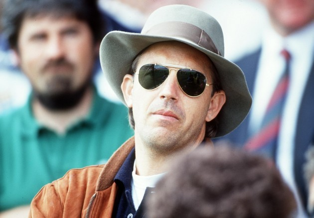 Actor Kevin Costner at the game 1992