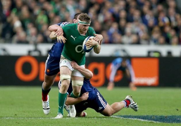 Jamie Heaslip tackled