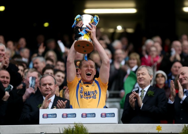 Portumna captain Ollie Canning lift's the cup