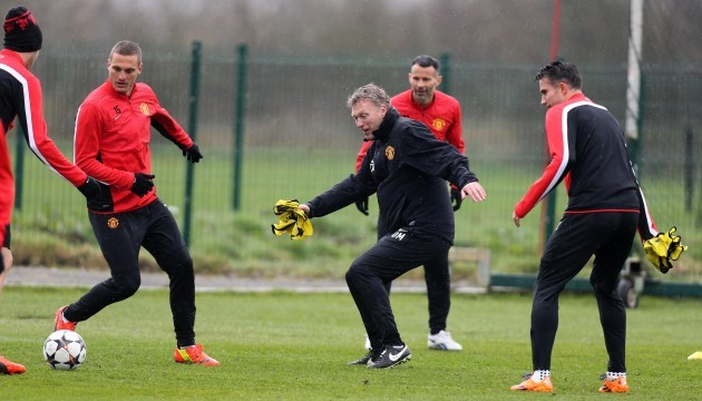 Soccer - UEFA Champions League - Round of Sixteen - Second Leg - Manchester United v Olympiacos - Manchester United Training Session - AON Training Complex