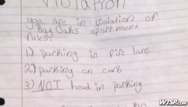 Teen issues brilliant ticket to illegally-parked police officer