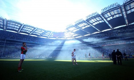 Mayo players dejected at the end of the game