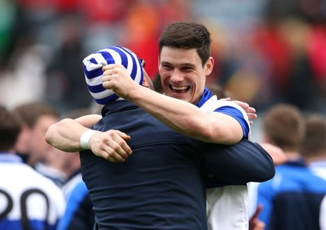 Diarmuid Connolly celebrates after the final whistle
