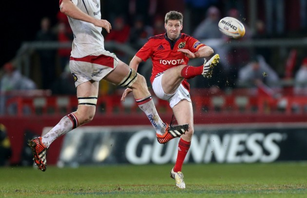 Ronan O'Gara kicks ahead