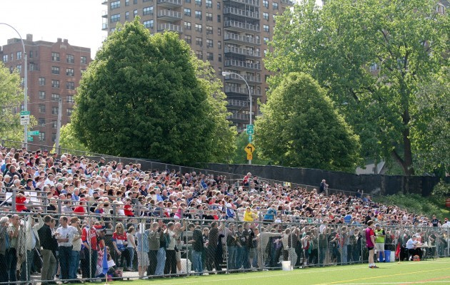 Fans watch today's game in Gaelic Park