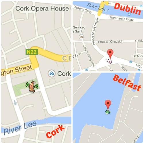 Google Map Of Dublin Ireland.Google Maps Addictive New Game Lets You Catch Wild Pokemon In Ireland