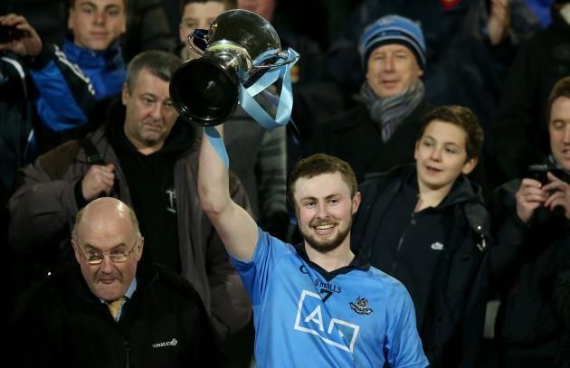 Jack McCaffrey lifts the trophy
