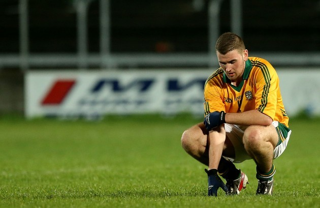 Neil Shortall dejected after the game
