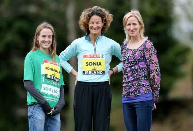 Fionnuala Britton, Sonia OÕSullivan and Catherina McKiernan