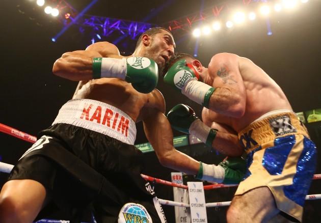 Stephen Ormond in action against Karim El Ouazghari