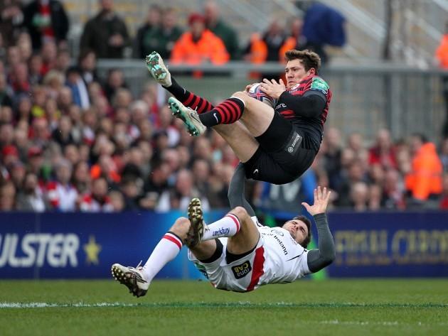 Jared Payne tackles Alex Goode