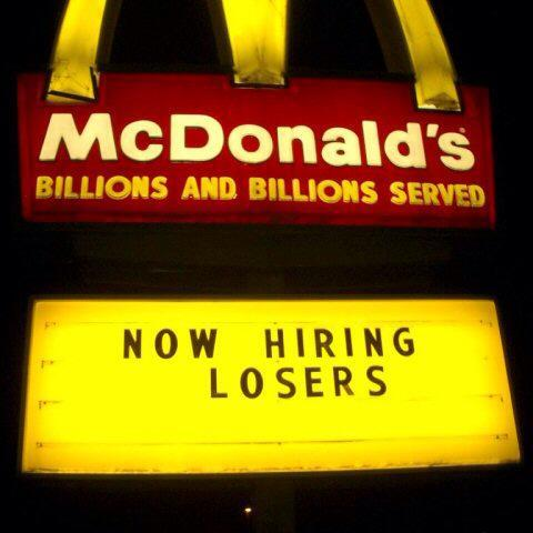 My sister quit her job at mc donalds after 7+ years, i like her way of leaving - Imgur