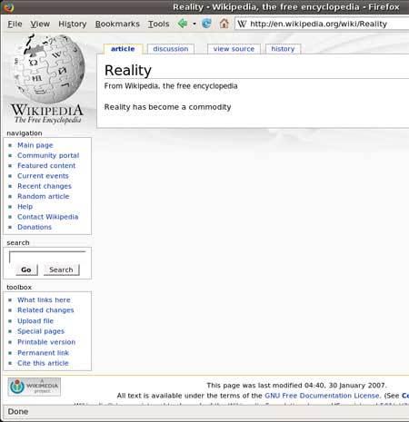 wikiReality