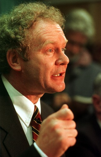 MARTIN MC GUINNESS REPUBLICANS GOOD FRIDAY PEACE AGREEMENTS NORTHERN IRELAND TROUBLES CONFLICTS PEACE TALKS PROCESS