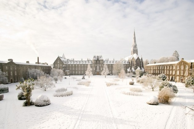 St Joes Sq with snow---NUI Maynooth