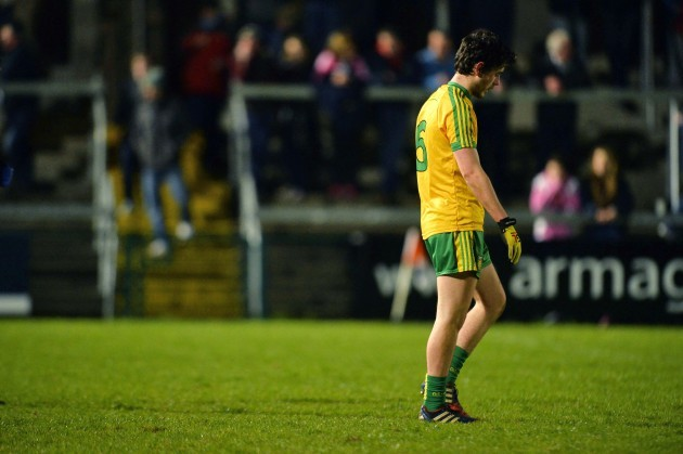 Ryan McHugh dejected after the game