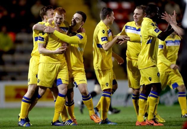 Rory Gaffney celebrates