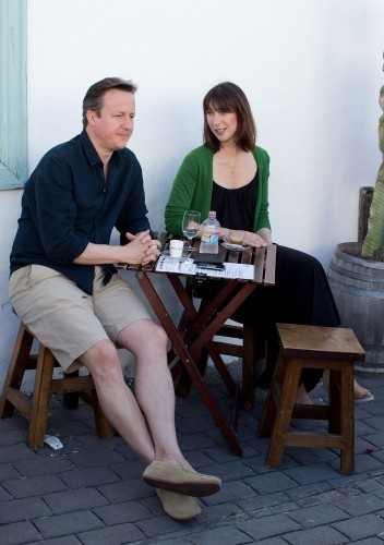 Prime Minister David Cameron holidays in Lanzarote