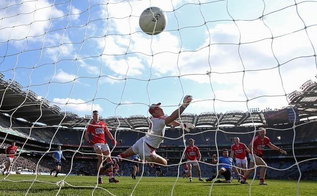Michael Darragh MacAuley scores his side's first goal