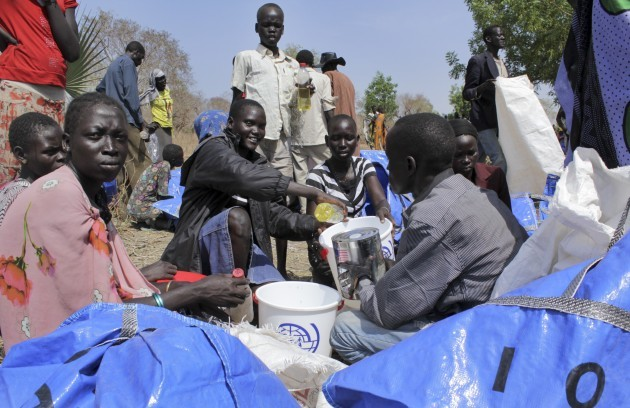 South Sudan Eating Roots