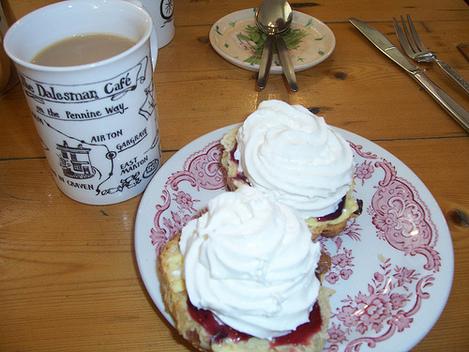Scone, cream and tea